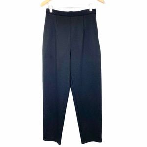 EMANUEL UNGARO Classic Dressy Black Cropped Pants
